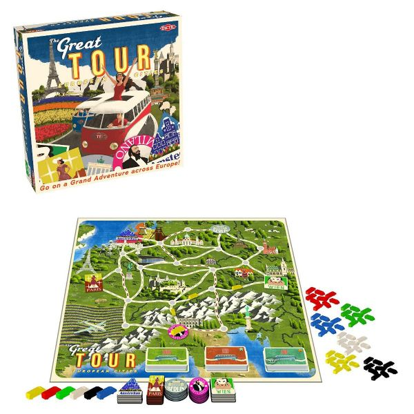 The Great Tour Family Kids Country Educational Board Game by Tactic Games